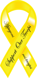 yellow Ribbon Logo Vector