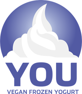 YOU Vegan Frozen Yogurt Logo Vector