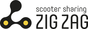Zig Zag Scooter Sharing Logo Vector